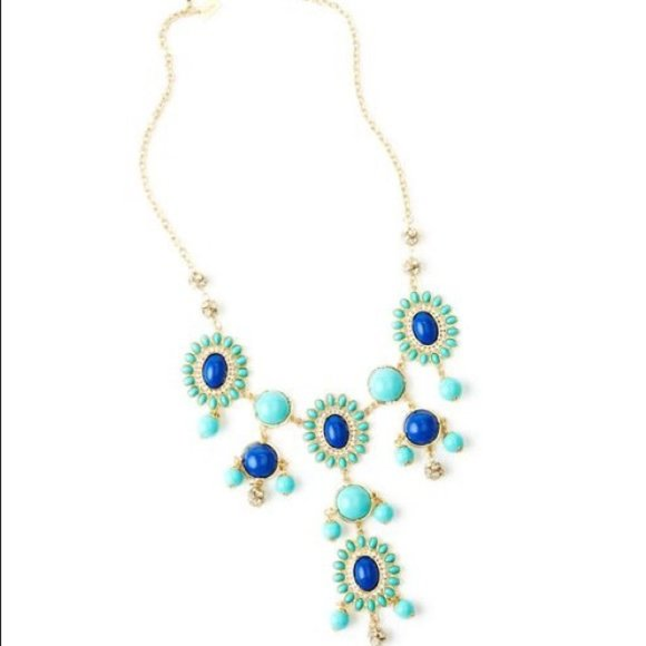 NIB Lilly Pulitzer Dew Drop Necklace Sapphire Blue